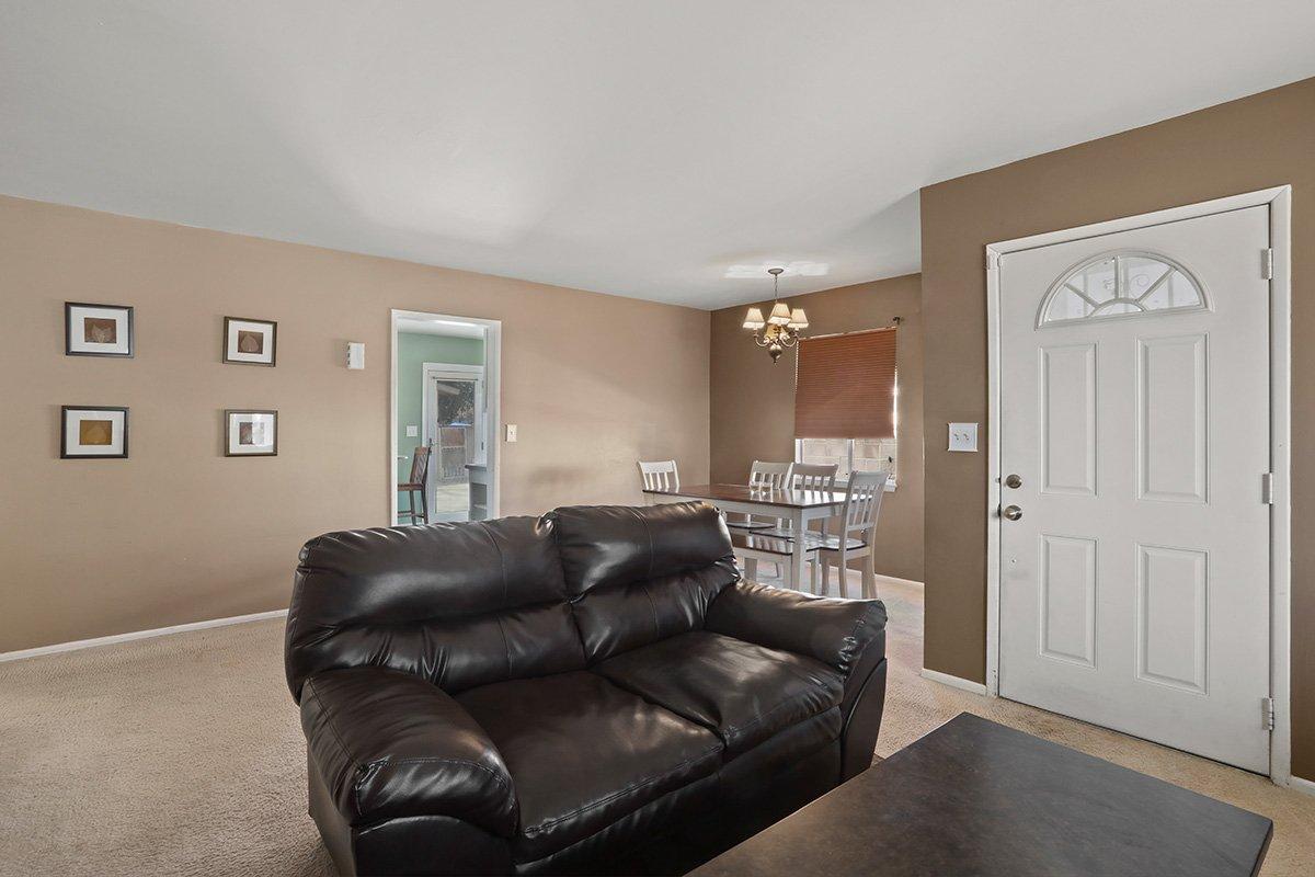 44115 Elm Avenue Lancaster CA 93534 Living room facing kitchen