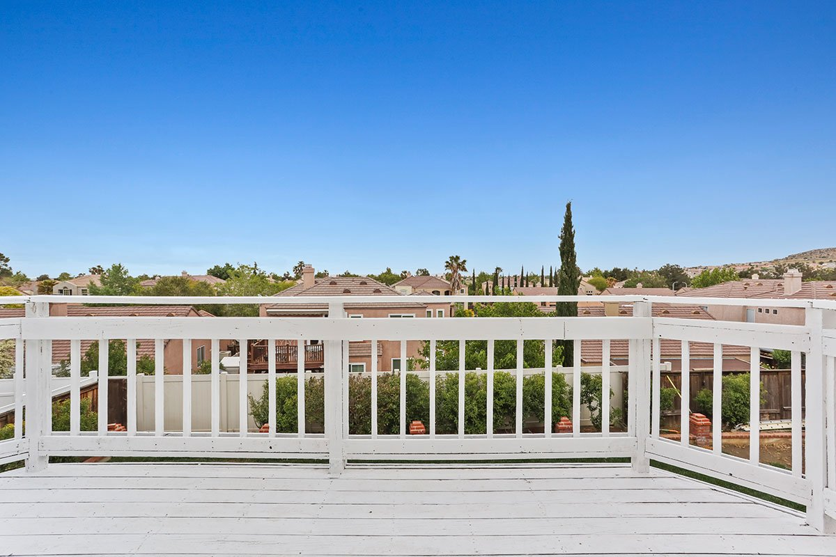real estate for sale in west palmdale balcony with view