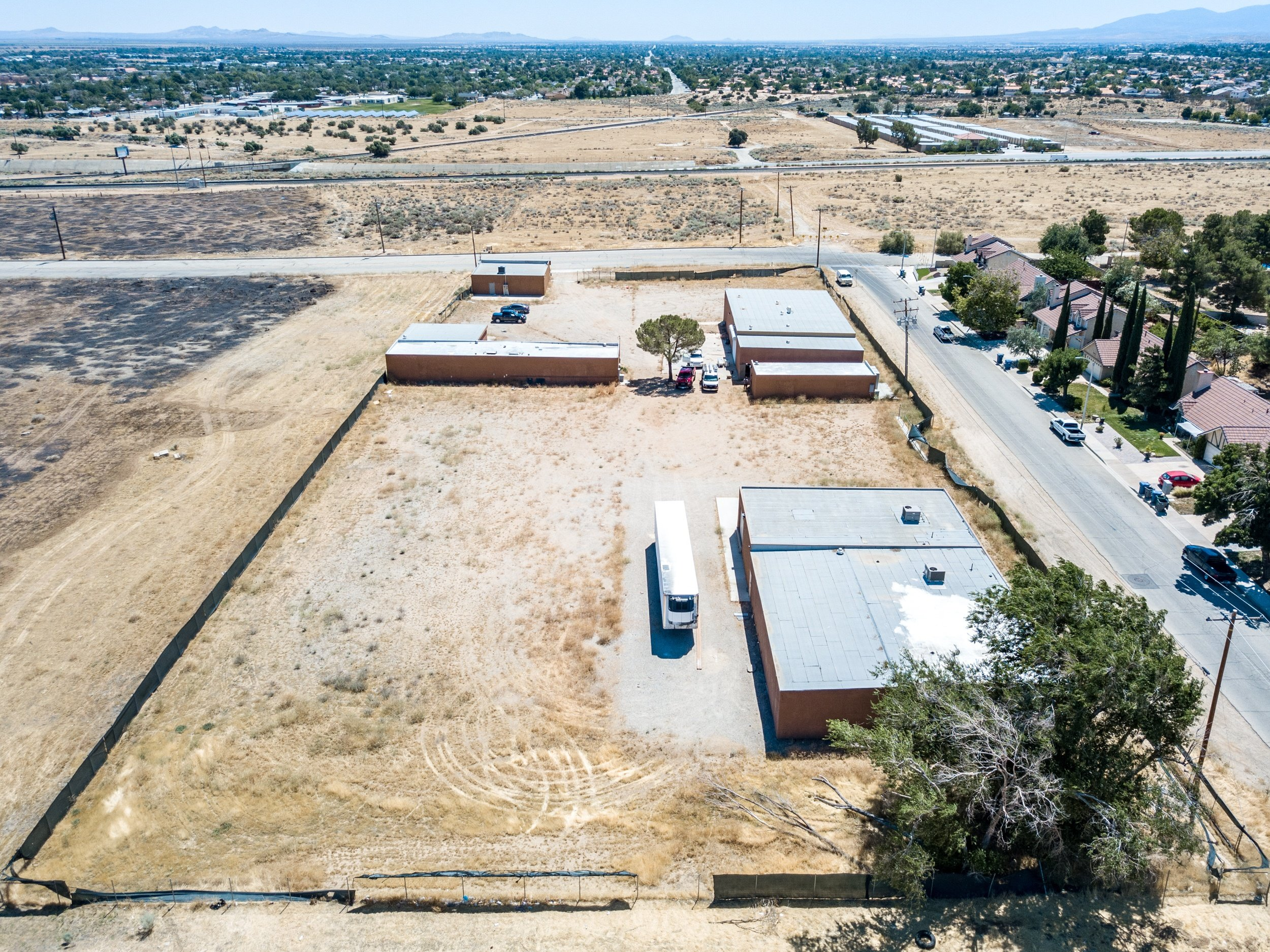 Palmdale Industrial Real Estate Rear Drone