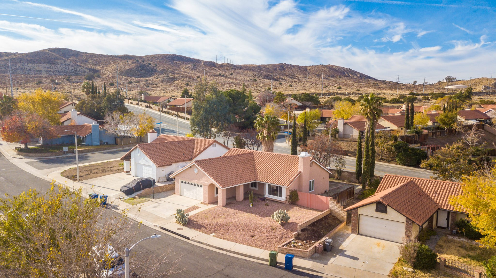 509 Hilltop Terrace Palmdale Real Estate Front Drone Side
